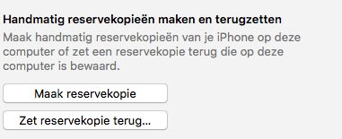 reservekopie iphone via iTunes