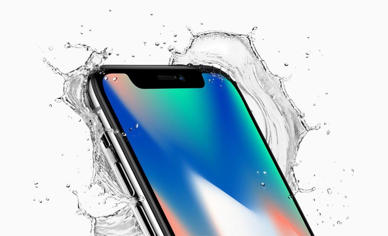 De iPhone X met randloos scherm en zonder Homebutton